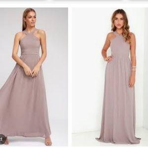 Lulu's Taupe Maxi dress size L